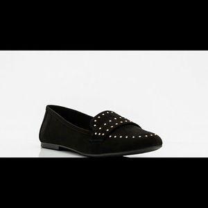 Shoes - Black Suede Flats